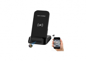Wireless Fast Charger with video and audio Camera Singapore