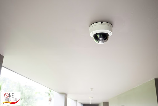 Dome CCTV Camera in Office